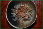 わらびの味噌マヨネーズ和え